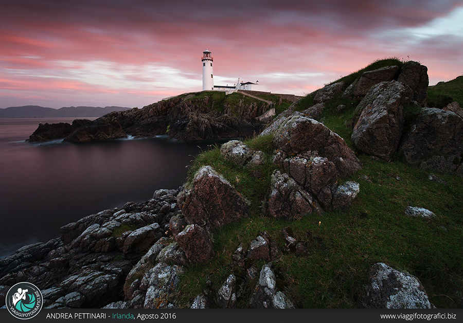 fanad head lighthouse tramonto