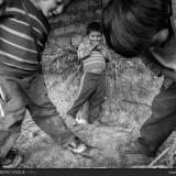 Bambini che giocano in Perù.