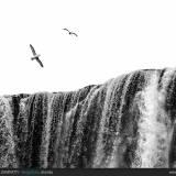 Scorcio della cascata di Skogafoss.