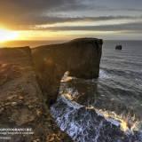 Arco di Dyrholaey al tramonto.