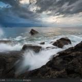 Il faro e le onde, Faro de L'Ile Vierge, Bretagna.