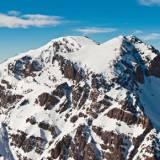 Panoramica delle High Atlas mountains in Marocco, nel parco nazionale del Toukbal.