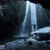 Gljufurarbui: cascata di Gljúfrafoss in Islanda.