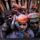 Holi festival: foto di gruppo.