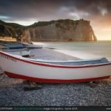 La barca ed Etretat