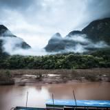 Laos - Paesaggio lungo il fiume Nam Ou.