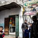 Scene di vita nei vicoli della Mellah a Tetouan.