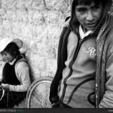 Scene di vita quotidiana a Puno, Perù.