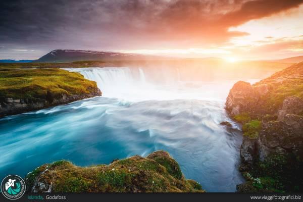 Fotografie realizzate presso la cascata di Godafoss