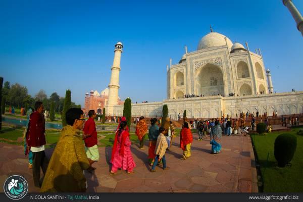 Fotografie del famoso Taj Mahal