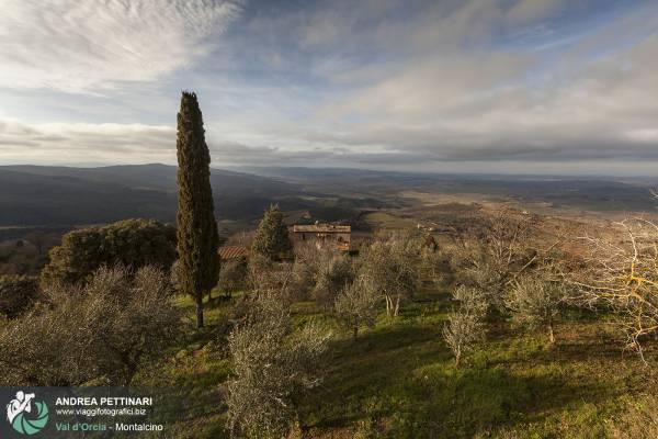 Fotografie del borgo di Montalcino in Toscana