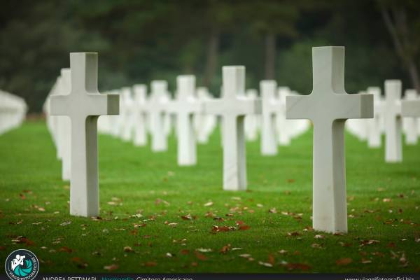 Fotografie scattate presso il Cimitero Americano di Omaha Beach.