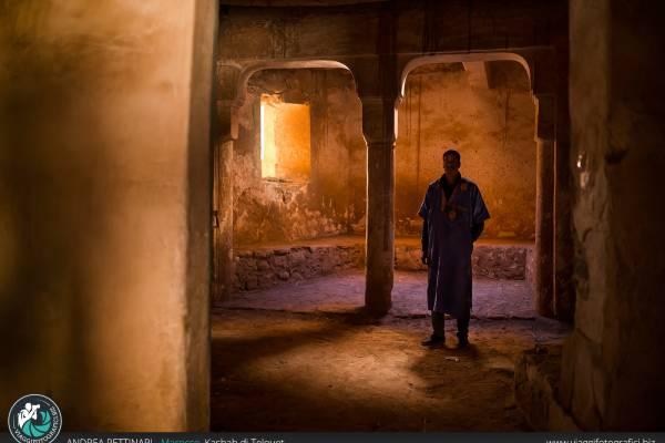 Fotografie della kasbah di Telouet, Marocco