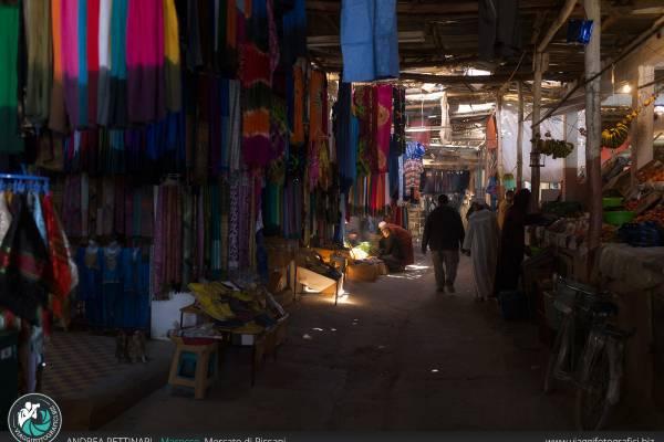 Fotografie al Souqs Mercato di Rissani, Marocco