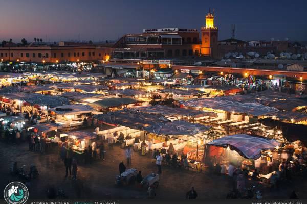Fotografie di Piazza Jemaa El-Fna, Marrakech, Marocco