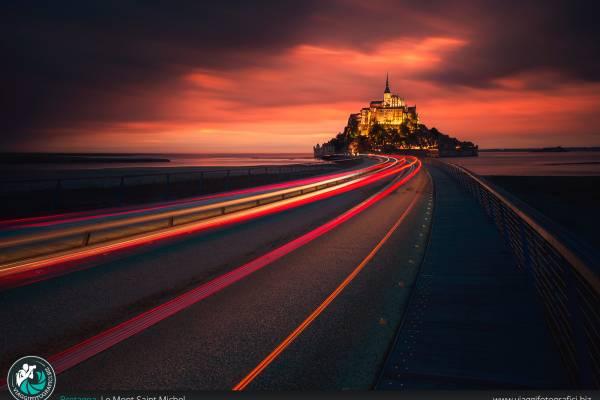Fotografie realizzate presso l'isola di Mont Saint Michel