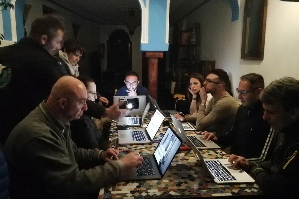 Sessione di editing fotorafico di reportage in marocco