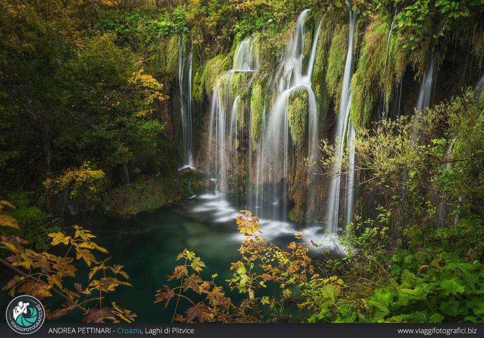 Cascata autunnale ai Laghi di Plitvice