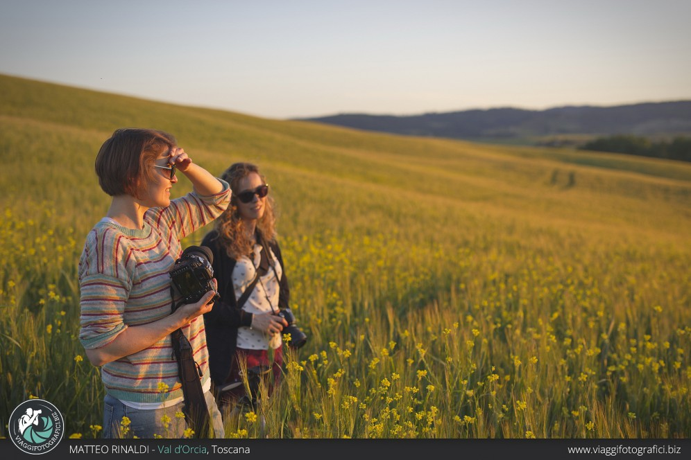 Backstage workshop val d'orcia in primavera