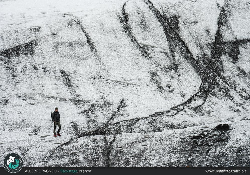 Ritratto nel ghiacciaio islandese