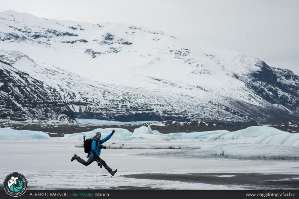 Saltando sui ghiacciai islandesi