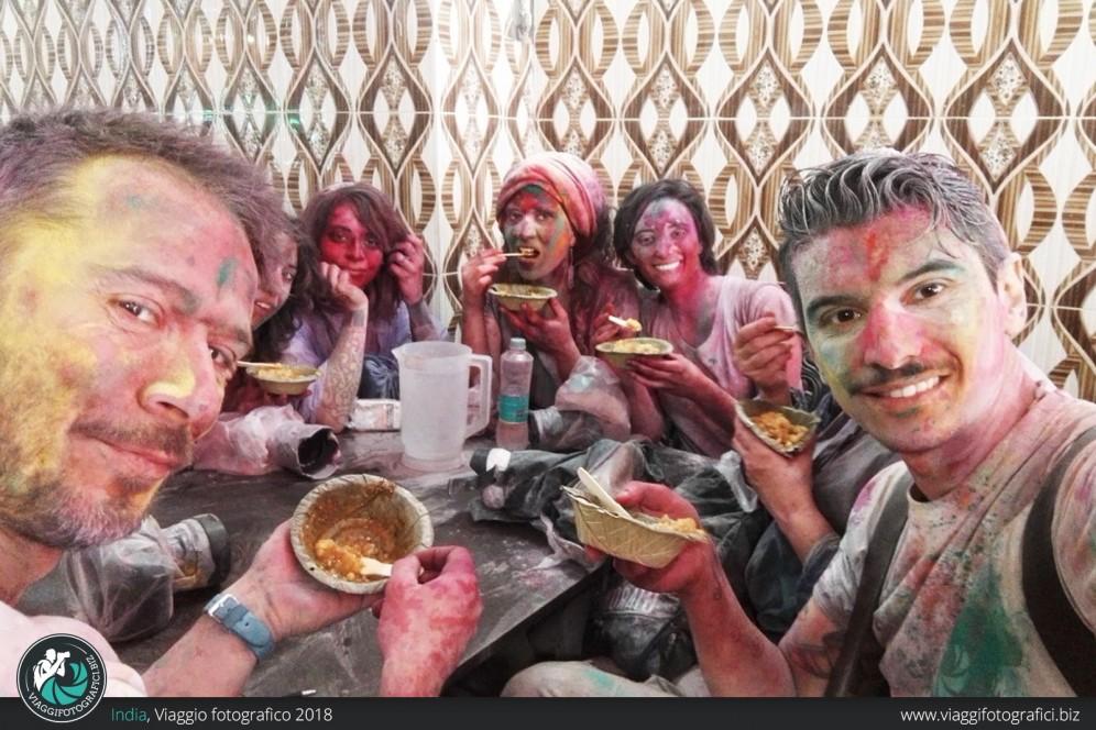 Pranzi durante il viaggio in india