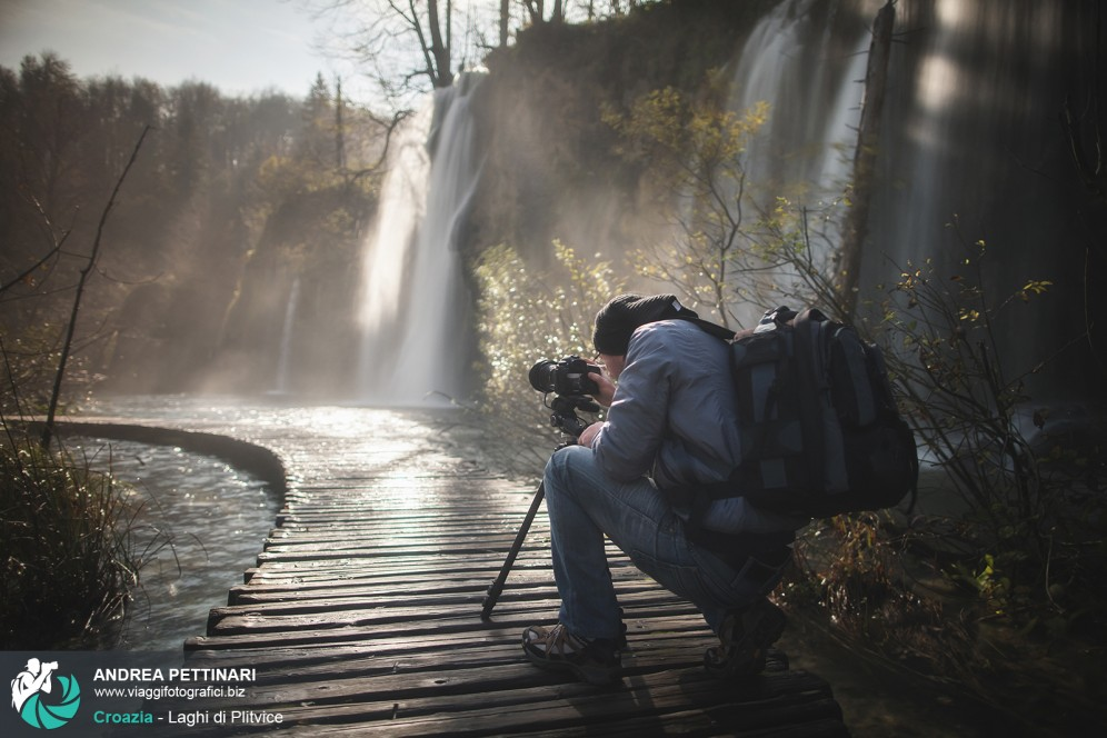Plitvice: foto di backstage del workshop fotografico.