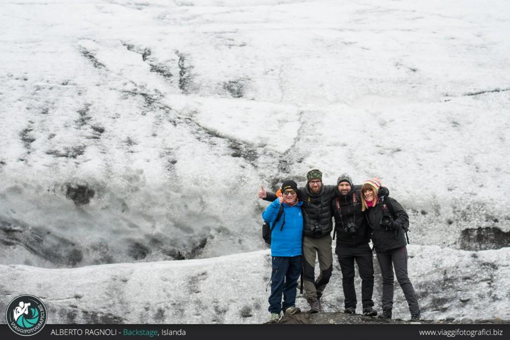 backstage in islanda nel ghiacciaio