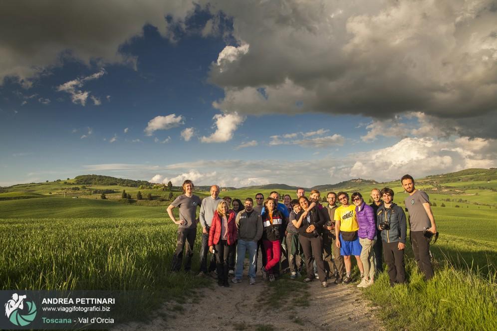 foto di gruppo workshop val d'orcia