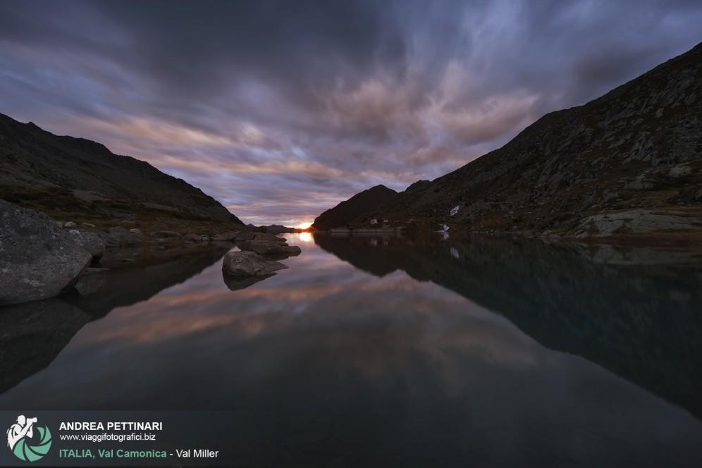 Lago Miller al tramonto