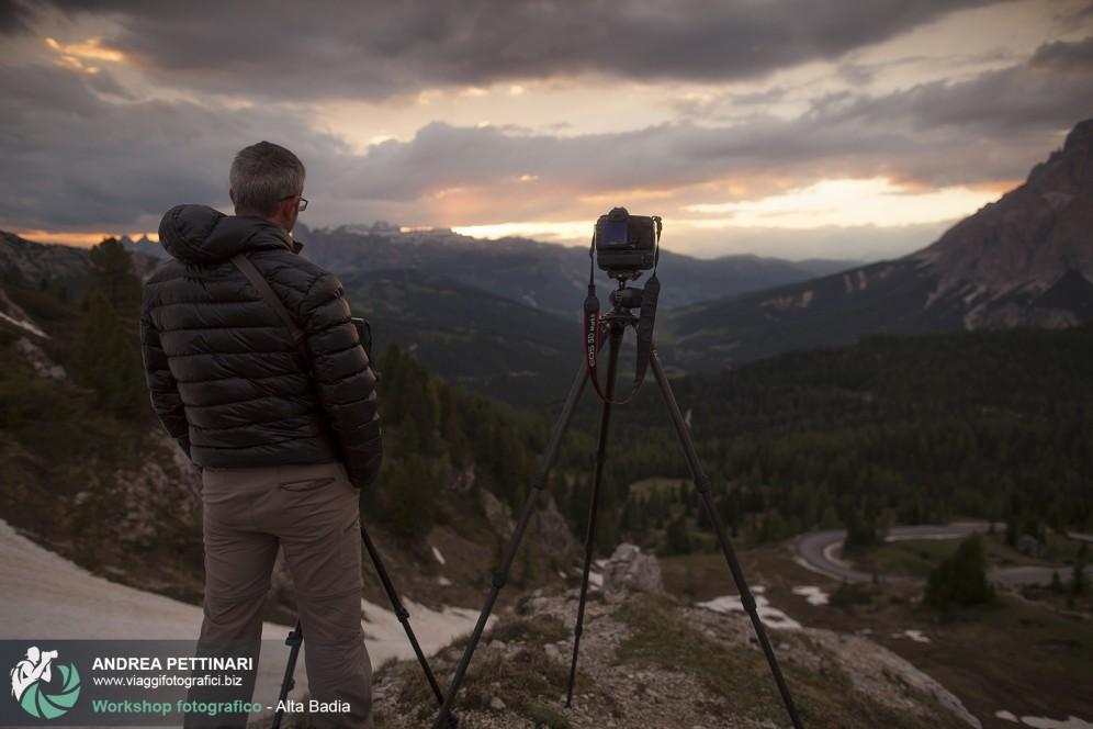 Fotografando il Tramonto al Passo Valparola