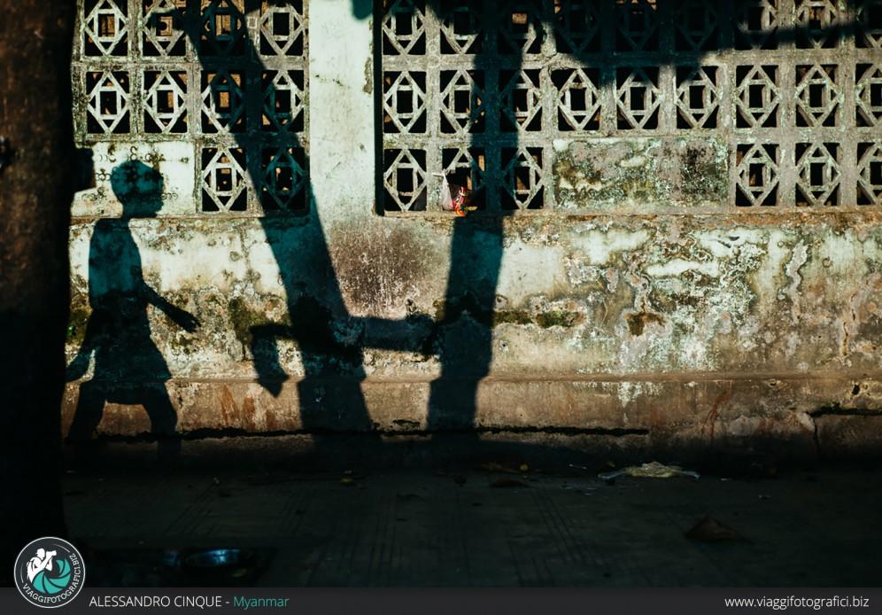 Gioco di ombre all'alba