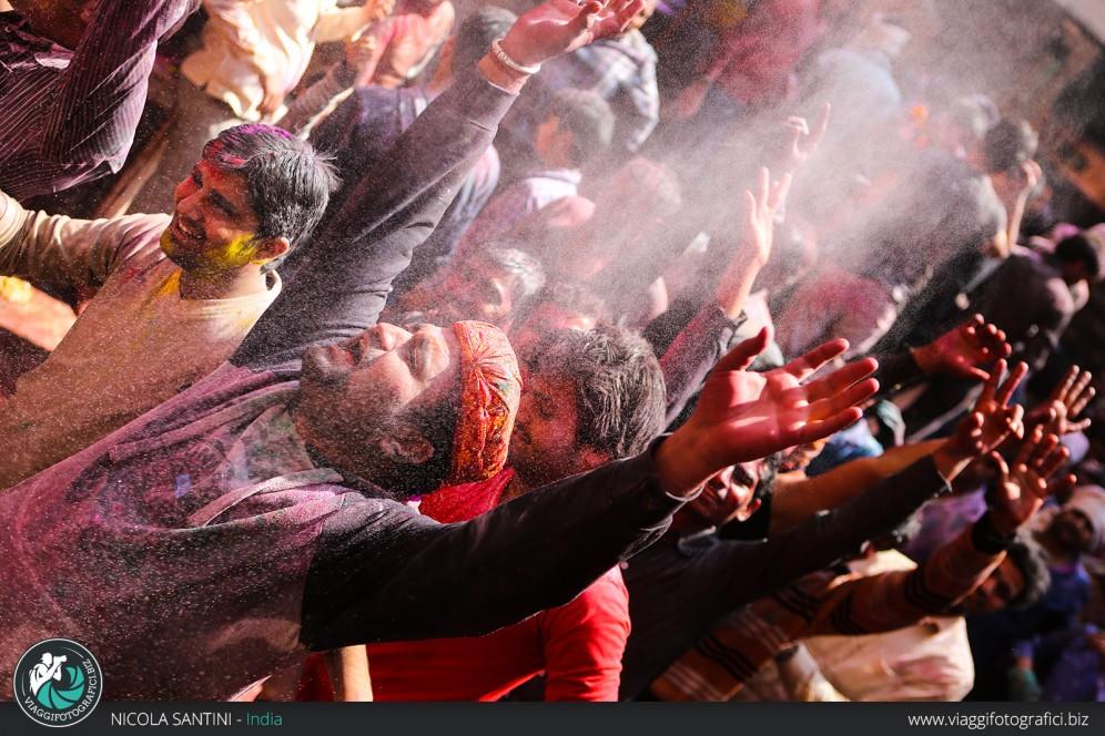 Holi festival Vrindavan.