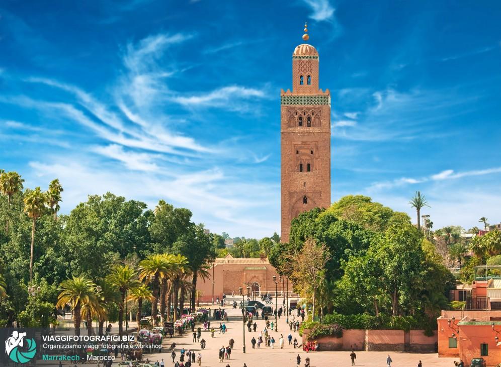 Piazza di Marrakech in Marocco.