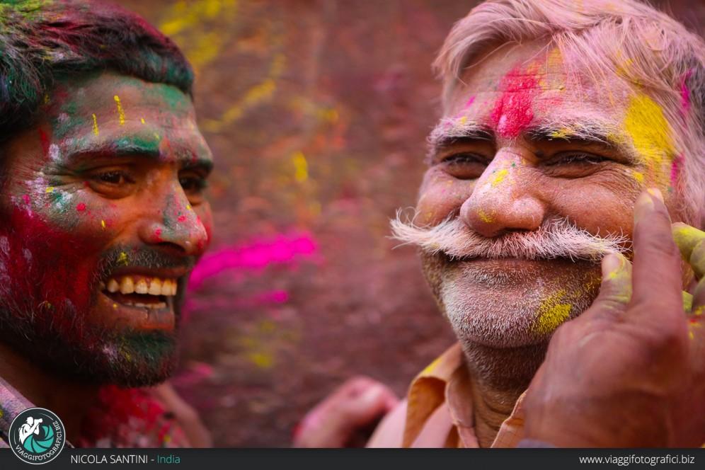 Ritratto holi festival India.