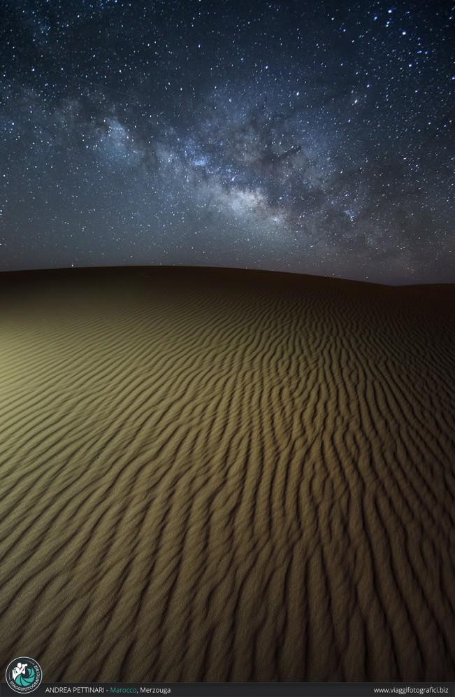 Via Lattea nel deserto