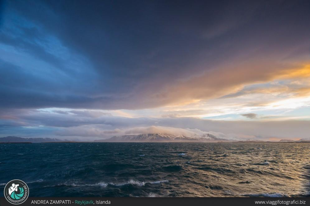 Vista di Viðey da Reykjavik.